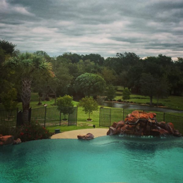 View from the Grand Lodge pool at Mill Creek Ranch Resort